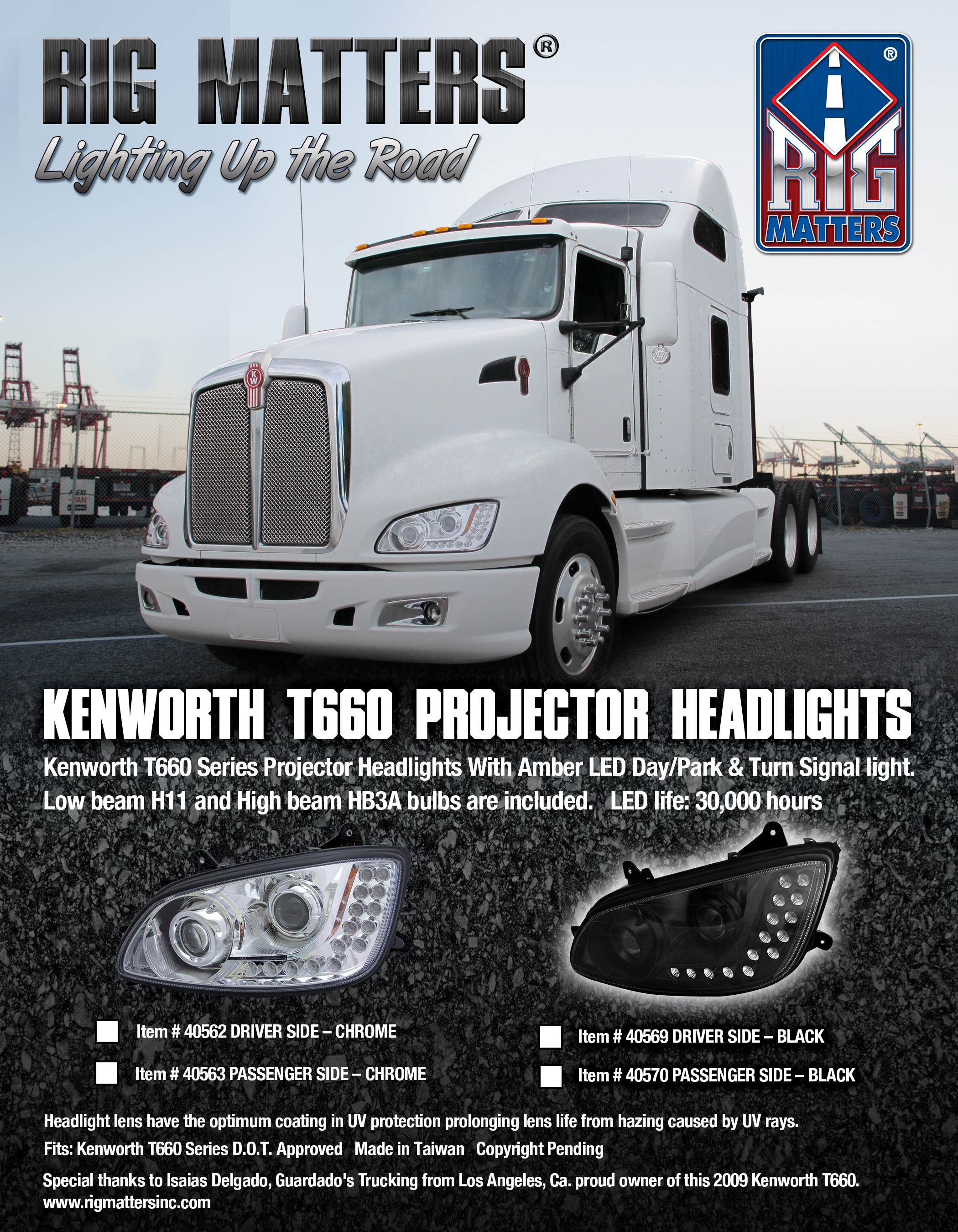 KENWORTH Headlights